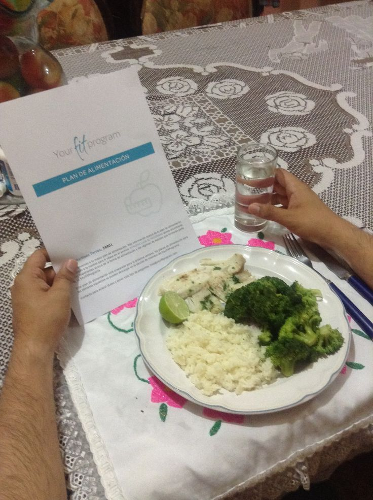 Eatwell! Broccoli Rice and Fish! Get your own personalized Diet Program Today! www.YourFitProgram.com