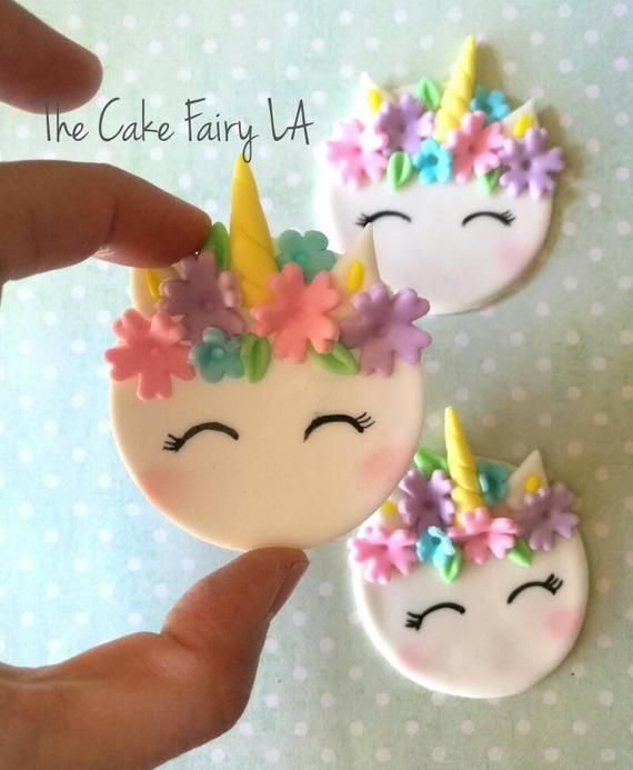 Unicorn Faces Fondant Cupcake Topper Etsy Fondant Cupcakes Fondant Cupcake Topper Fondant Cupcake Toppers