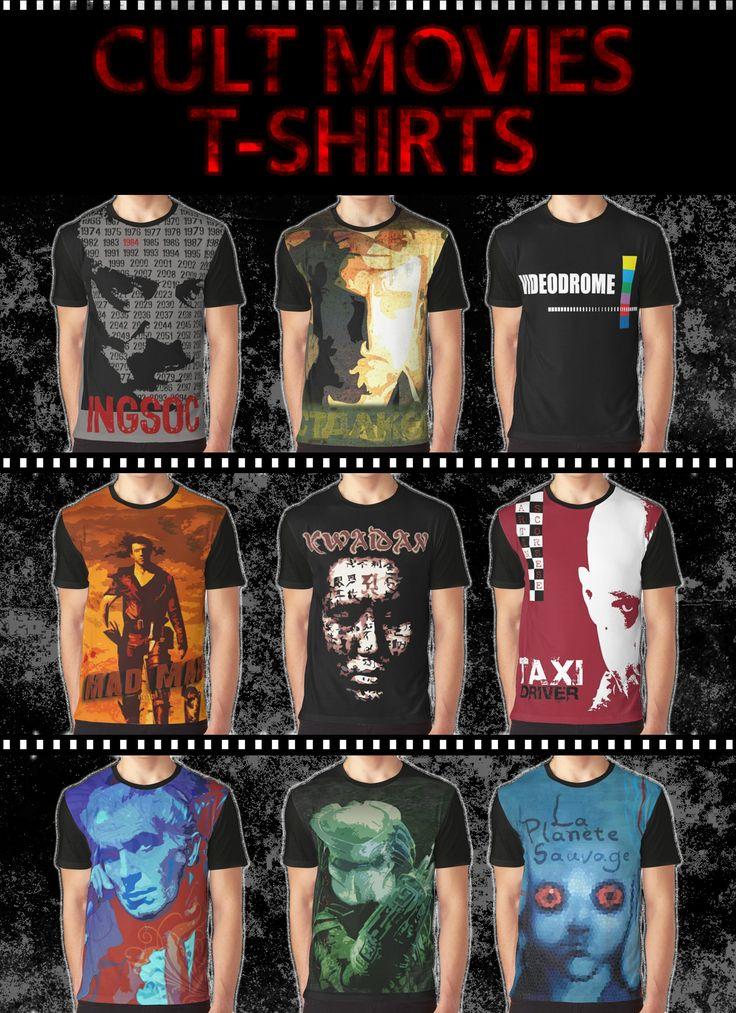 Cult Movies T-Shirts #movietshirts #cult #movies #tshirts #redbubble #1984tshirt #taxidrivertshirt #laplanetesauvagetshirt #fantasticplanettshirt #predatortshirt #kwaidantshirt #videodrometshirt #madmaxtshirt #stalkertshirt #houseofushertshirt #cooltshirts #cultmovies