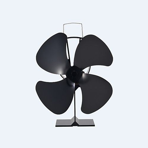 Freestanding 4-Blade Heat Powered Eco-Friendly Classical Stove Fan Fireplace Fan 180 CFM Max 2017 - $46.89