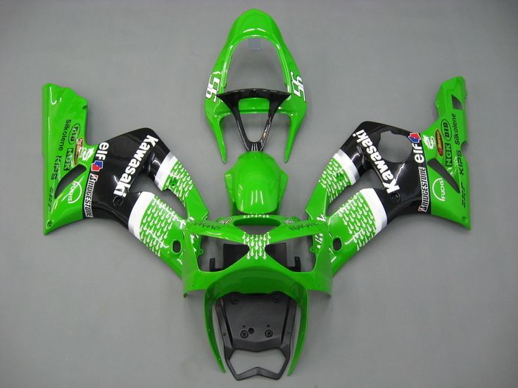 Mad Hornets - Fairings Kawasaki ZX6R 636 Green Black No.56 ELF Racing  (2003-2004), $457.99 (http://www.madhornets.com/fairings-kawasaki-zx6r-636-green-black-no-56-elf-racing-2003-2004/)