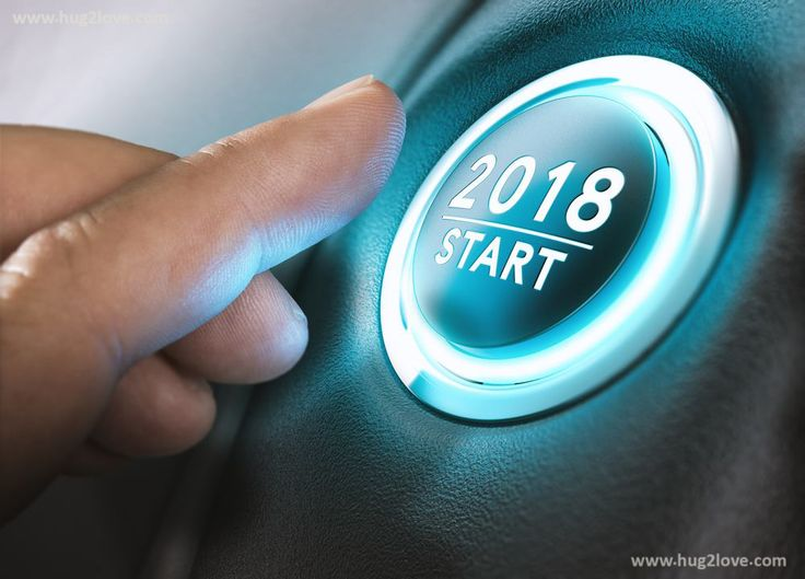 New Year 2018 Start Button Business Wallpaper Blue