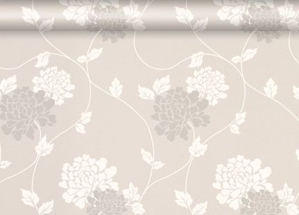 Isodore Dove Grey Floral Wallpaper - Laura Ashley