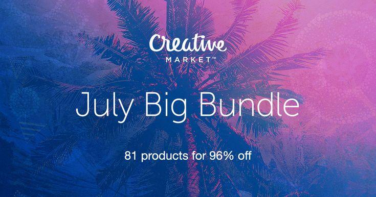 Check out July Big Bundle on Creative Market