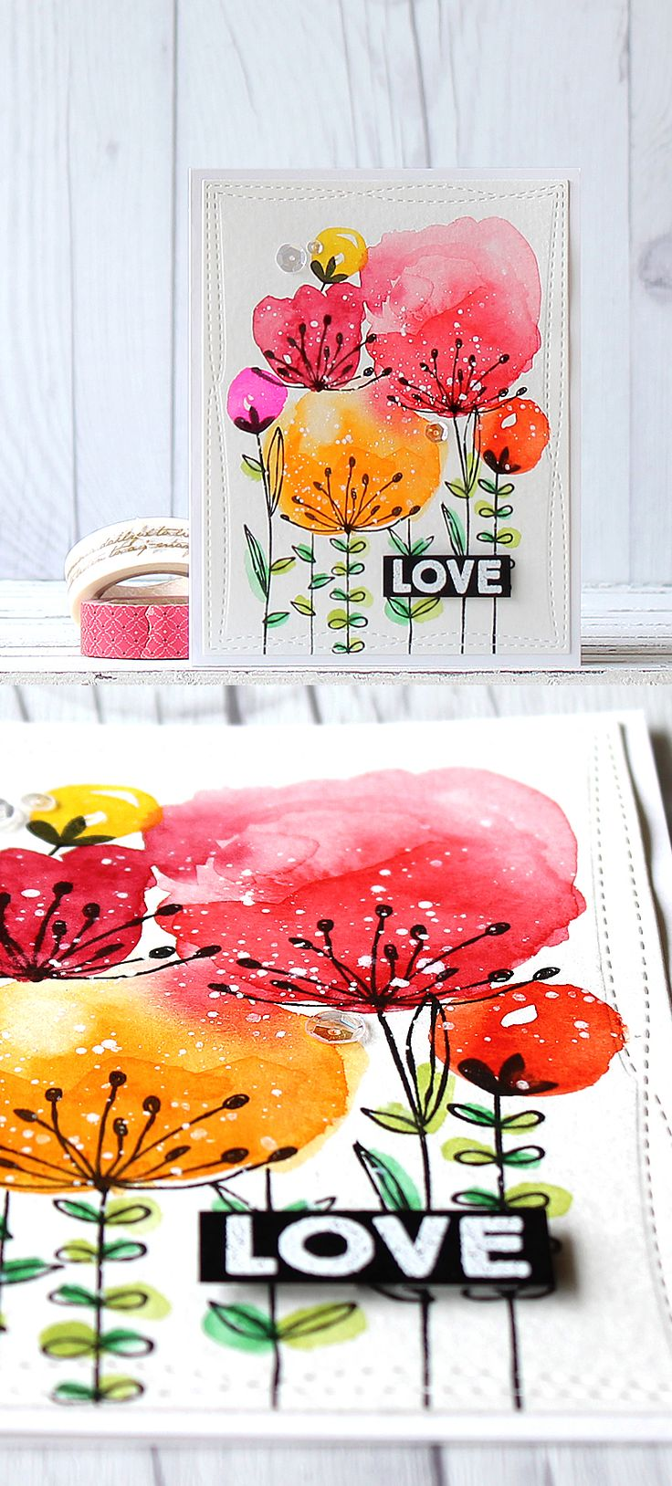 Pretty watercolor idea