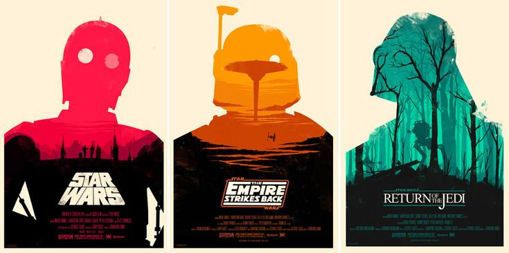 • LOVE these star wars posters!