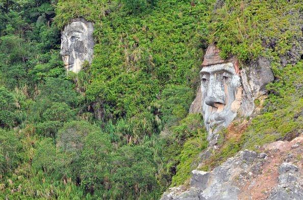 Wajah toar lummimut di percaya sebagai nenek moyang pertama suku minahasa - di bukit kasih, sulawesi utara