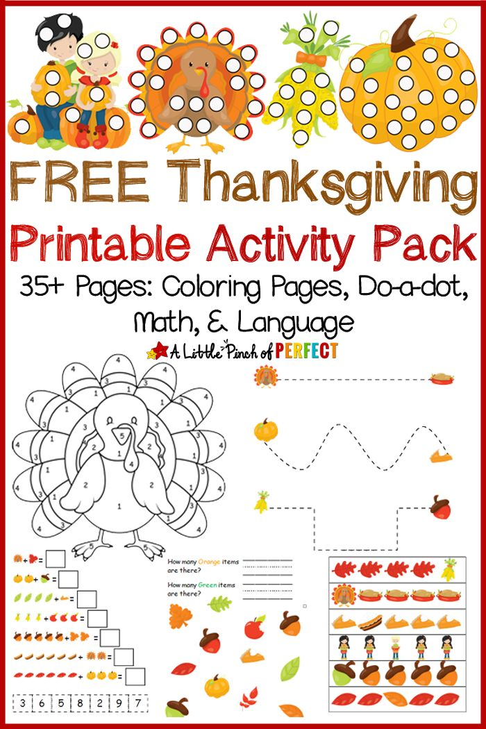 Free Thanksgiving Printable Activity