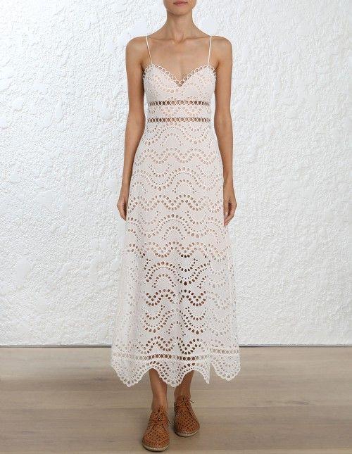 ed824307b8045 Zimmermann Jaya Wave Bodice Dress. Model Image. Fits true to size take your  normal