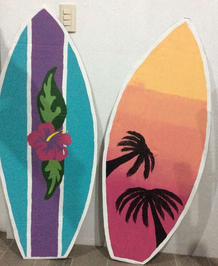 Tablas de surf decoracion dise os m os pinterest for Decoracion de surf