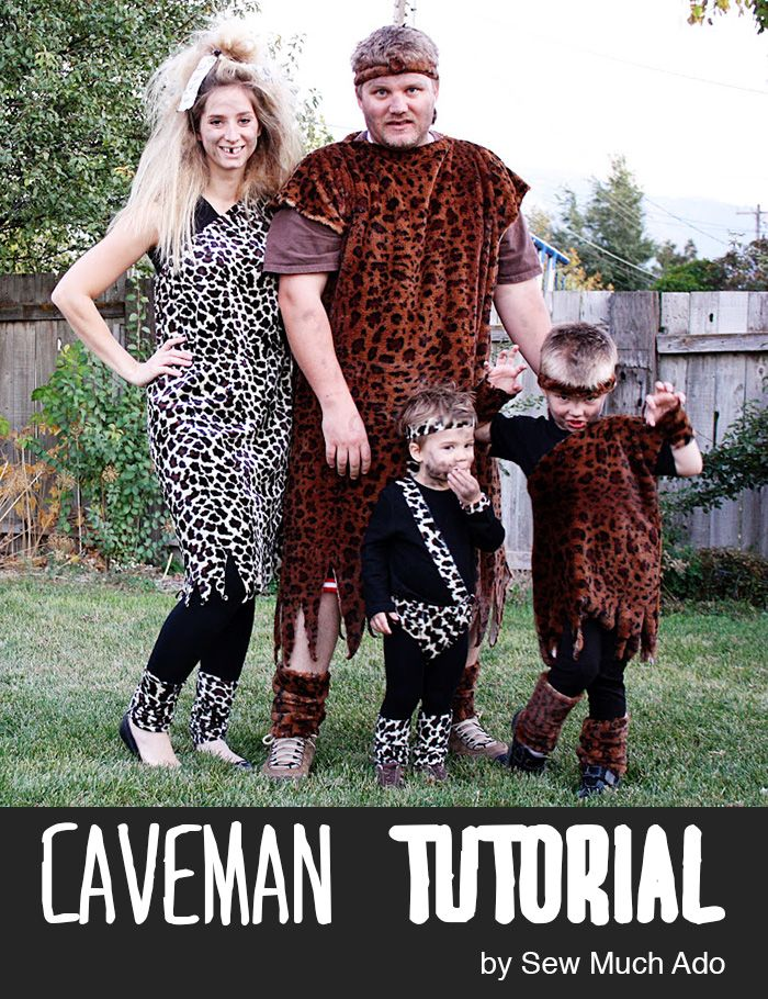 Sew a caveman family costume