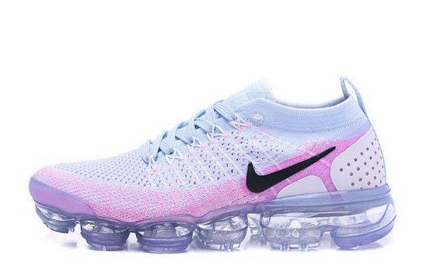 762622c2ecea Nike Air Vapormax Flyknit 2 Mens 2018 Running Shoes Hydrogen Blue Pink  942843-102