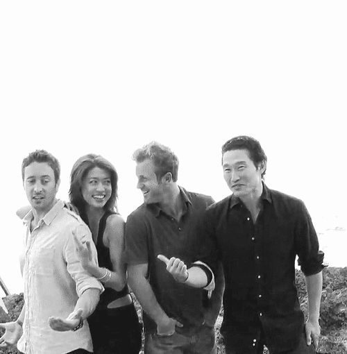 Love these guys. Daniel Dae Kim's smile is so beautiful....
