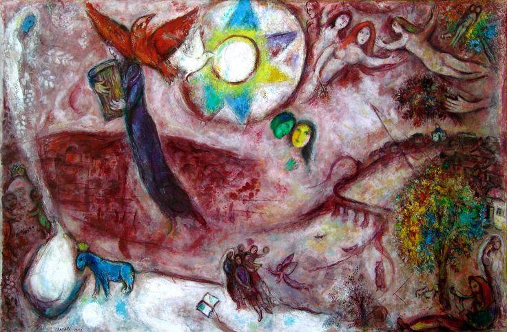 https://flic.kr/p/doS77t | M. Chagall. Cantico dei Cantici V | Quanto sei bella e quanto sei graziosa, o amore, figlia di delizie! (7,7) Museo Chagall, Nizza