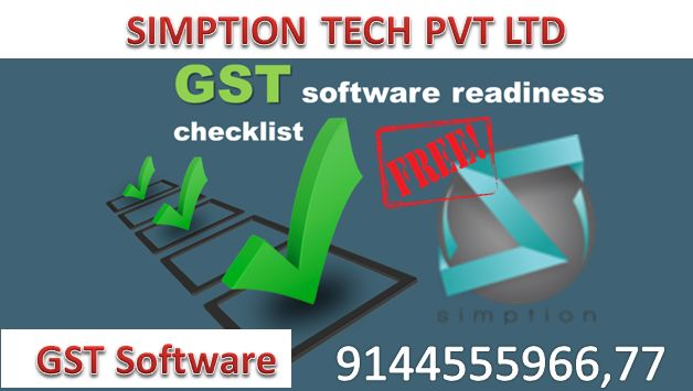 We will provide free GST Software clears all your worries related to GST billing and returns e-filing, developed by SIMPTION TECH PVT LTD and is available in both Desktop and Online variants.  Indian businesses can generate specific invoicing format along with sales and purchase invoice, e-way bills, payment voucher, refund voucher