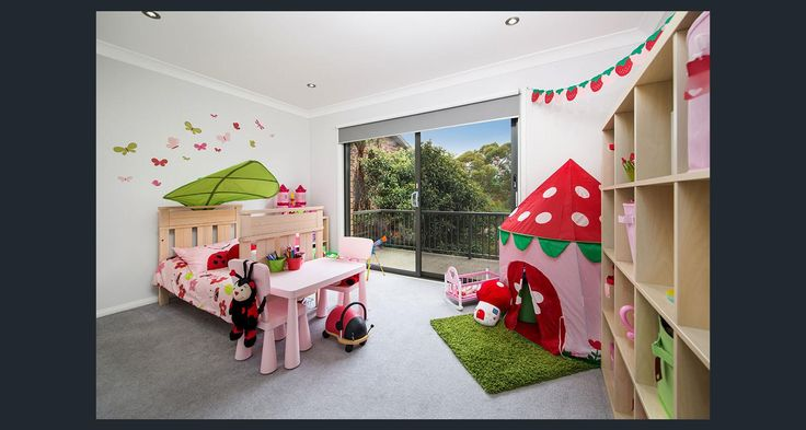 Garden bedroom. Pink Green and Red. Ladybug bedroom. Strawberry bedroom. Girls garden bedroom. Girls fairy bedroom.