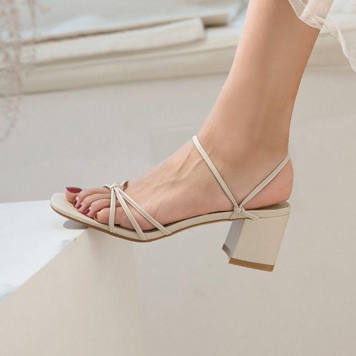 Open Toe Block Heels Sandals