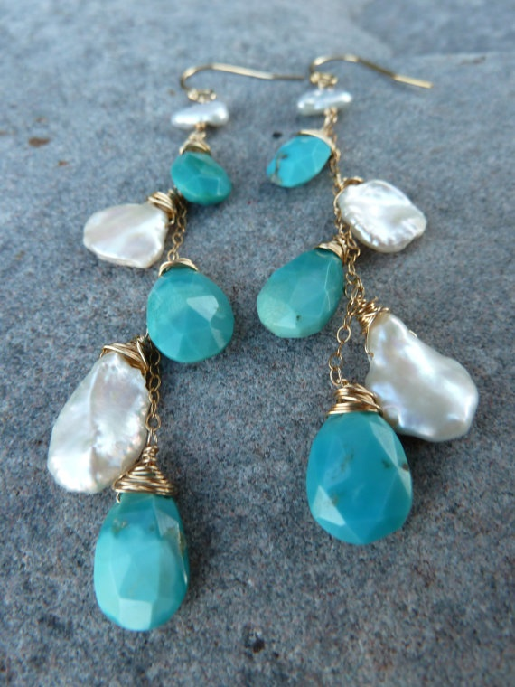 Pearls of Wisdom  Sleeping Beauty Turquoise and Pearl