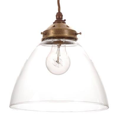 Deben pendant light in antiqued brass