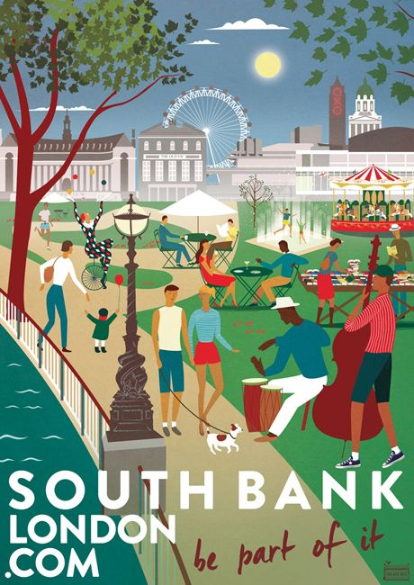 Southbank London 'Be Part of it' poster