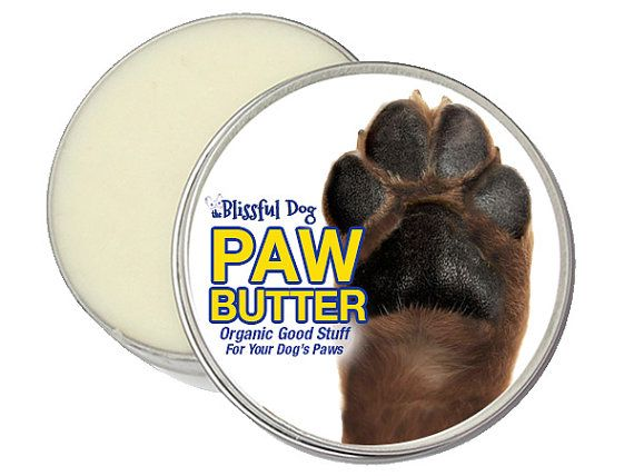Dog Paw Butter - Organic Salve for Dry or Cracked, Rough Dog Paw Pads 1 oz. Tin in an Organza Gift Bag
