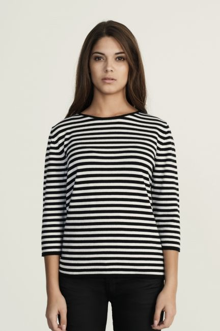 Sibin Linnebjerg Sandra knit. The perfect striped sweater since it is just delicate enough to tuck into a skirt. March 2014