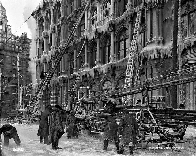 After a fire, Thomas May's Building, McGill Street, Montreal, QC, 1901