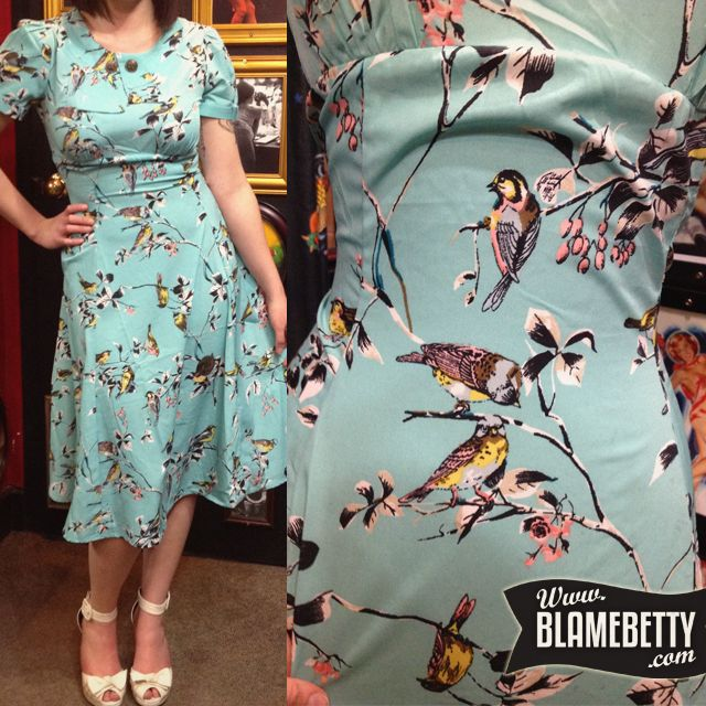So lovely on, the fabric is gorgeous #blamebetty