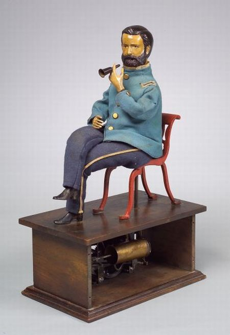 Ives General Grant Smoker Automaton, U.S.A. p. 1877        (he actually smoked)