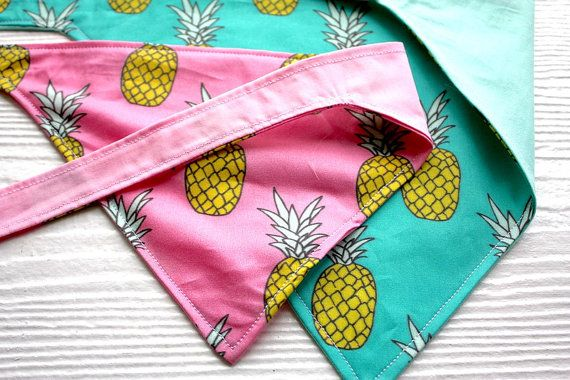 Dog Bandana The if you like Pina Coladas in pink by TheModernMutt