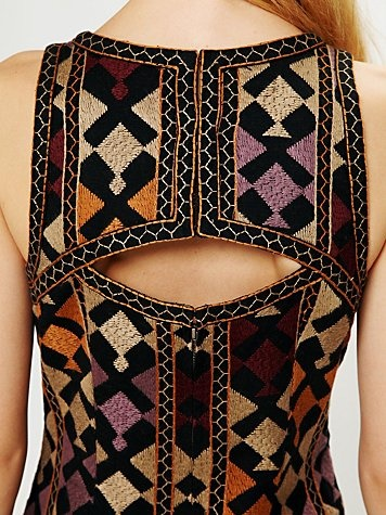 Details: Phulkari Embroidered Shift Dress  #fashion