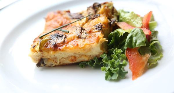 Most recipes for make-ahead breakfast casseroles are loaded with sausage, cheese and cream which don't support a healthy waistline.