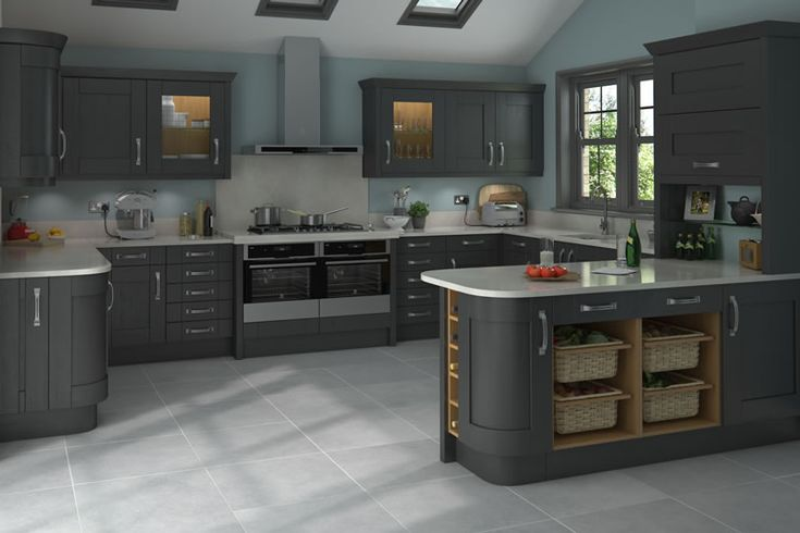 I LOVE this ONE   Malton Painted Graphite Kitchens - Buy Malton Painted Graphite Kitchen Units at Trade Prices