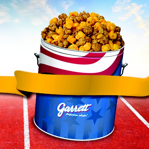 Taste the Sweet Thrill of The Chicago Mix in an Americana Tin from Garrett Popcorn Shops!