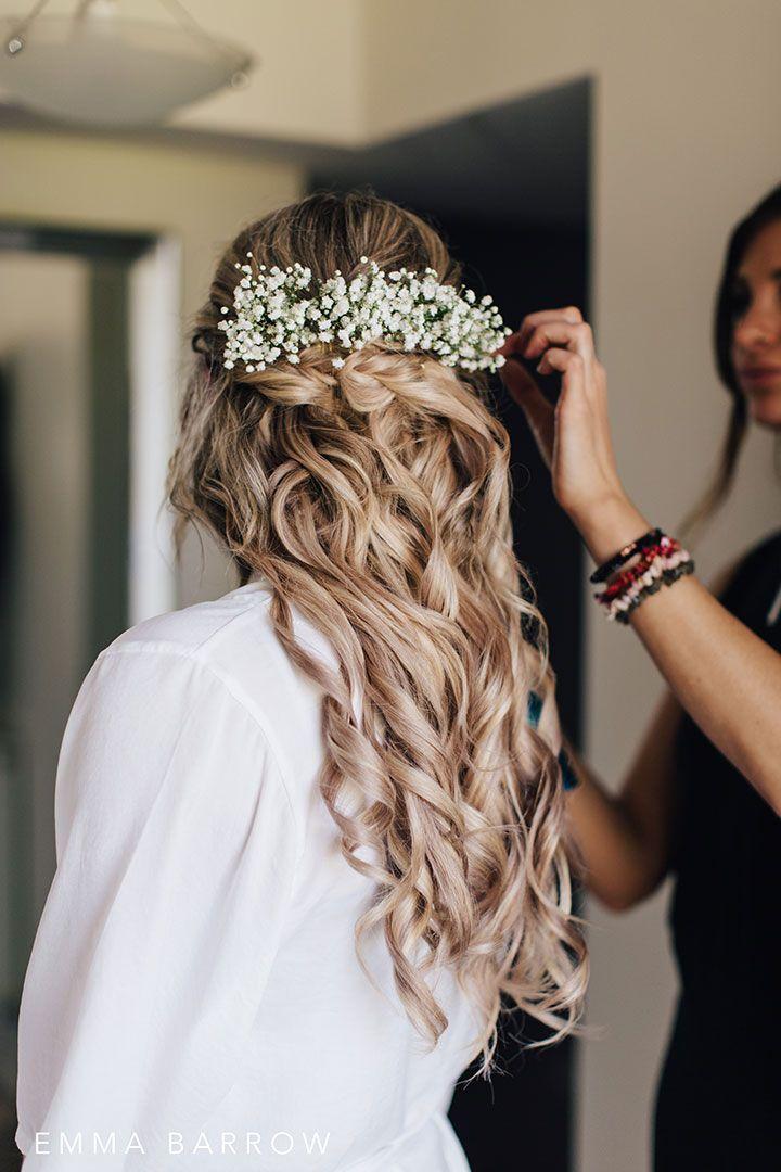 Heavenly Bride In Sophia Tolli Andria Bride Hair Flowers