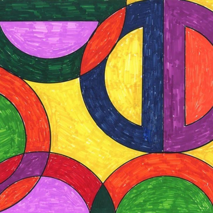 Frank Stella Abstract Drawing