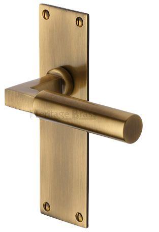 'Bauhaus' Antique Brass Door Handles - BAUHAUS-AT (sold in pairs) None
