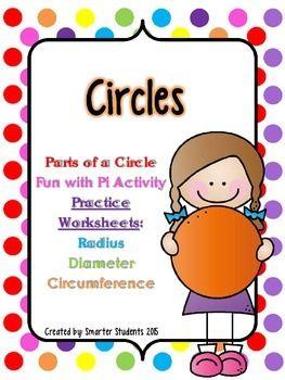 Circles - Parts of a Circle, Pi Day, Radius, Diameter, Circumference