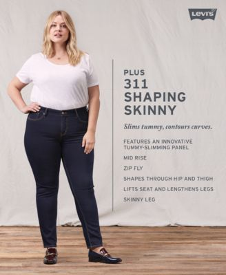 36489f22b1a Levi s Plus Size 311 Shaping Skinny Jeans - Blue 16WS