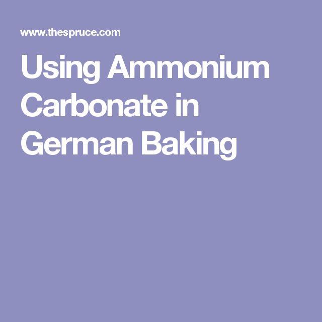 Using Ammonium Carbonate in German Baking