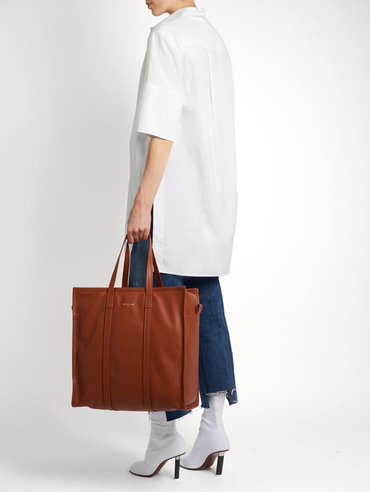 Bazar medium leather tote | Balenciaga | MATCHESFASHION.COM UK