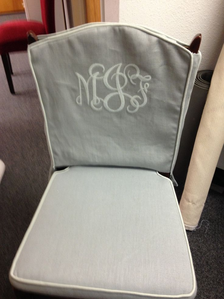 Chair Seat Cushion And Removable Top With Monogram By SlipcoverUniversity On Etsy
