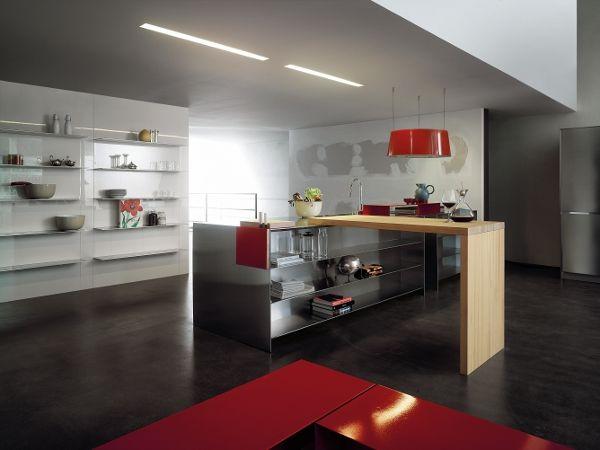 EL_01 designed for @Elmar cucine   #Palomba #design #red #steel