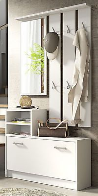 #Modern #hallway set with mirror, #storage bench, hanger shoe cabinet, View more on the LINK: http://www.zeppy.io/product/gb/2/152071167197/