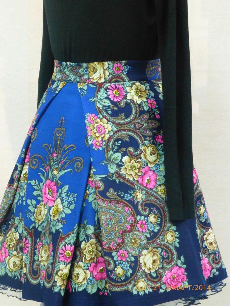 юбка из ПП платка