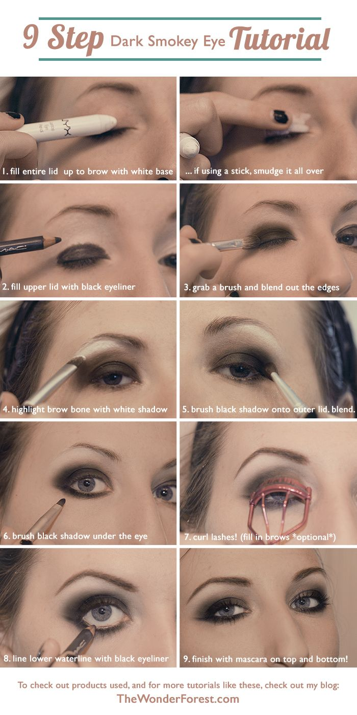 shoe manufacturers usa 9 Step Dark Smokey Eye Tutorial