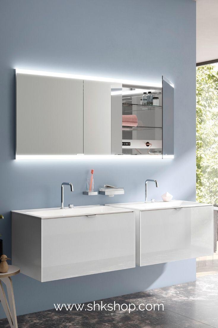 Emco Asis Evo Lichtspiegelschrank Unterputzmodell 3 T Ren 1600 Mm In 2020 Badezimmer Mobel Einbau Spiegelschrank Spiegelschrank
