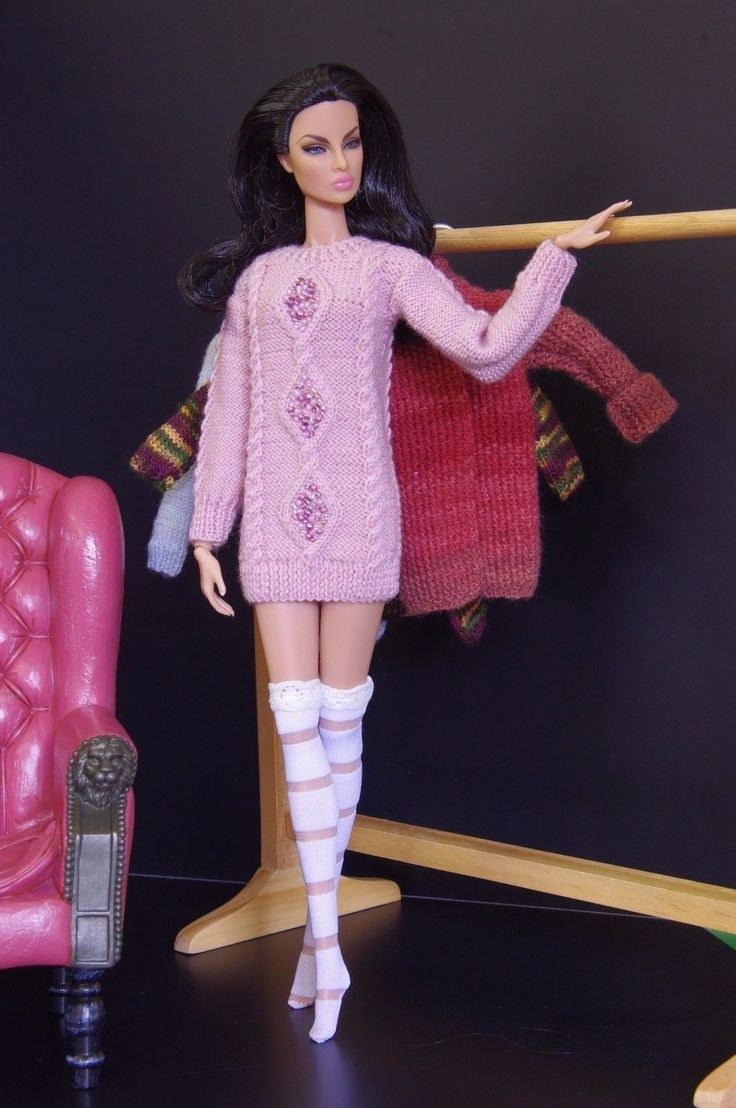 by GEMINI ~ knitted fashion outfit for FR Poppy Parker Nu Face Barbie | eBay