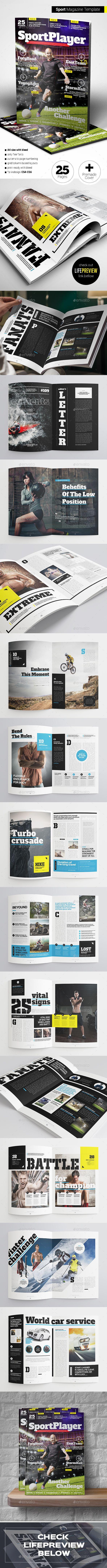 Sport Magazine Template InDesign INDD #design Download: http://graphicriver.net/item/sport-magazine/13916129?ref=ksioks