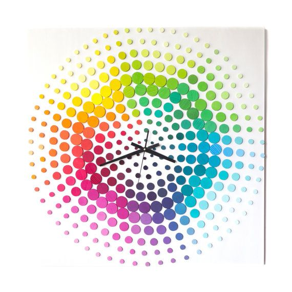 Time of Rainbow  Life in BOLD colors / 70x70cm /3D by DecoBoxRo